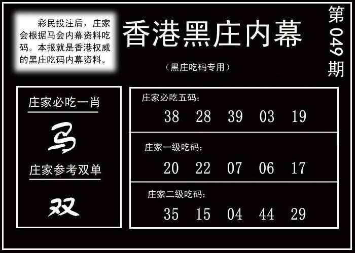049期香港黑庄内幕