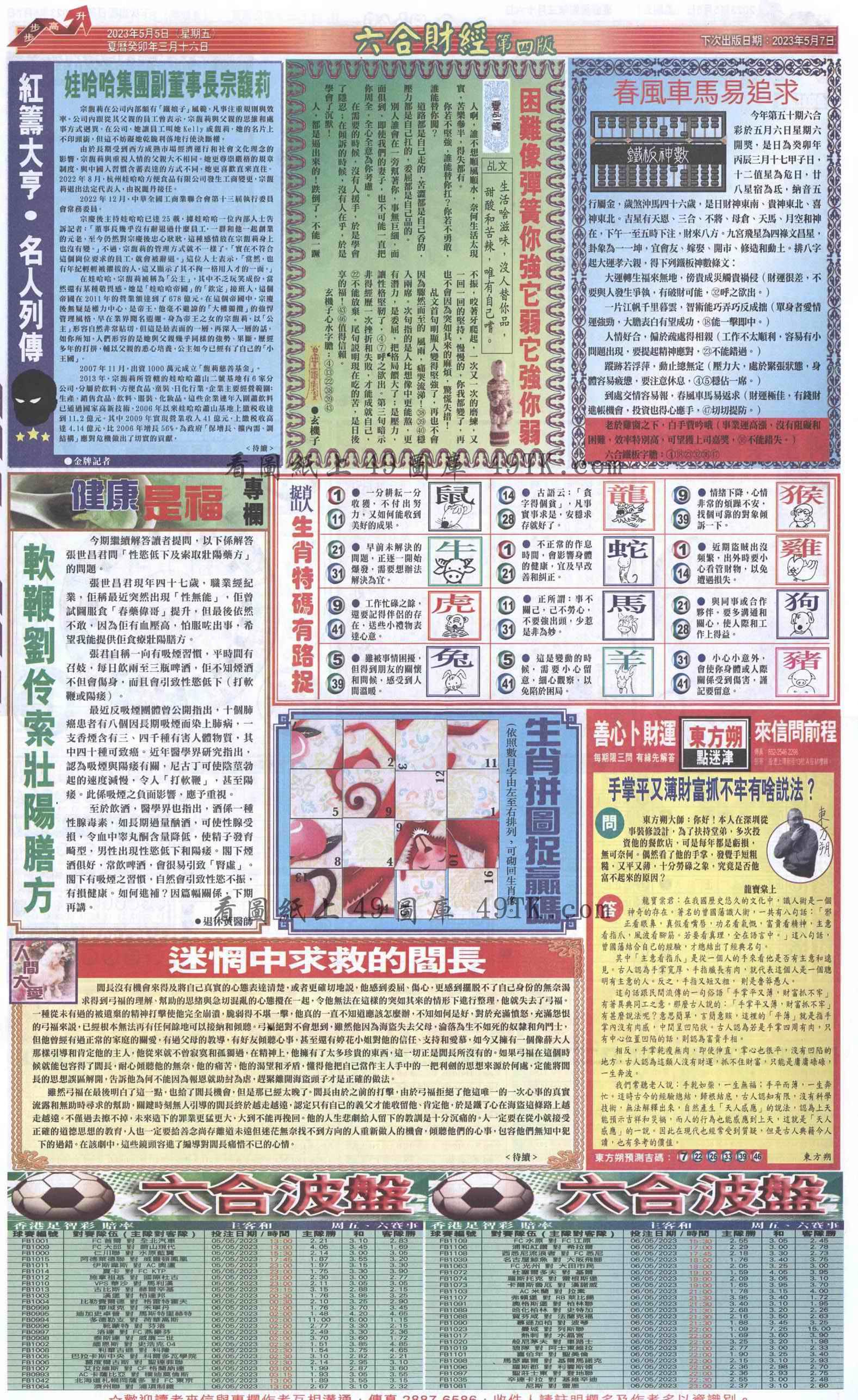 050期六合财经B加大版