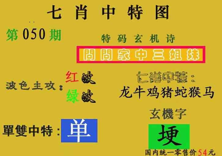 050期七肖中特(新图)