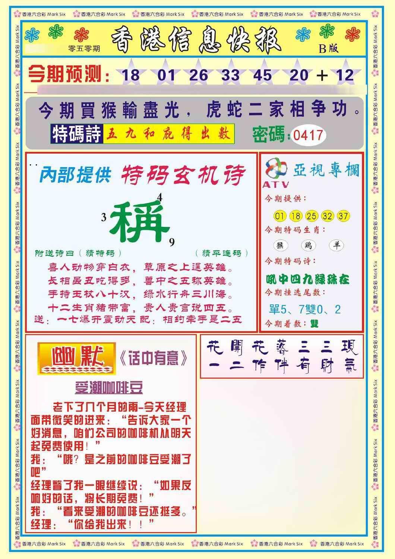 050期香港信息快报B(新)