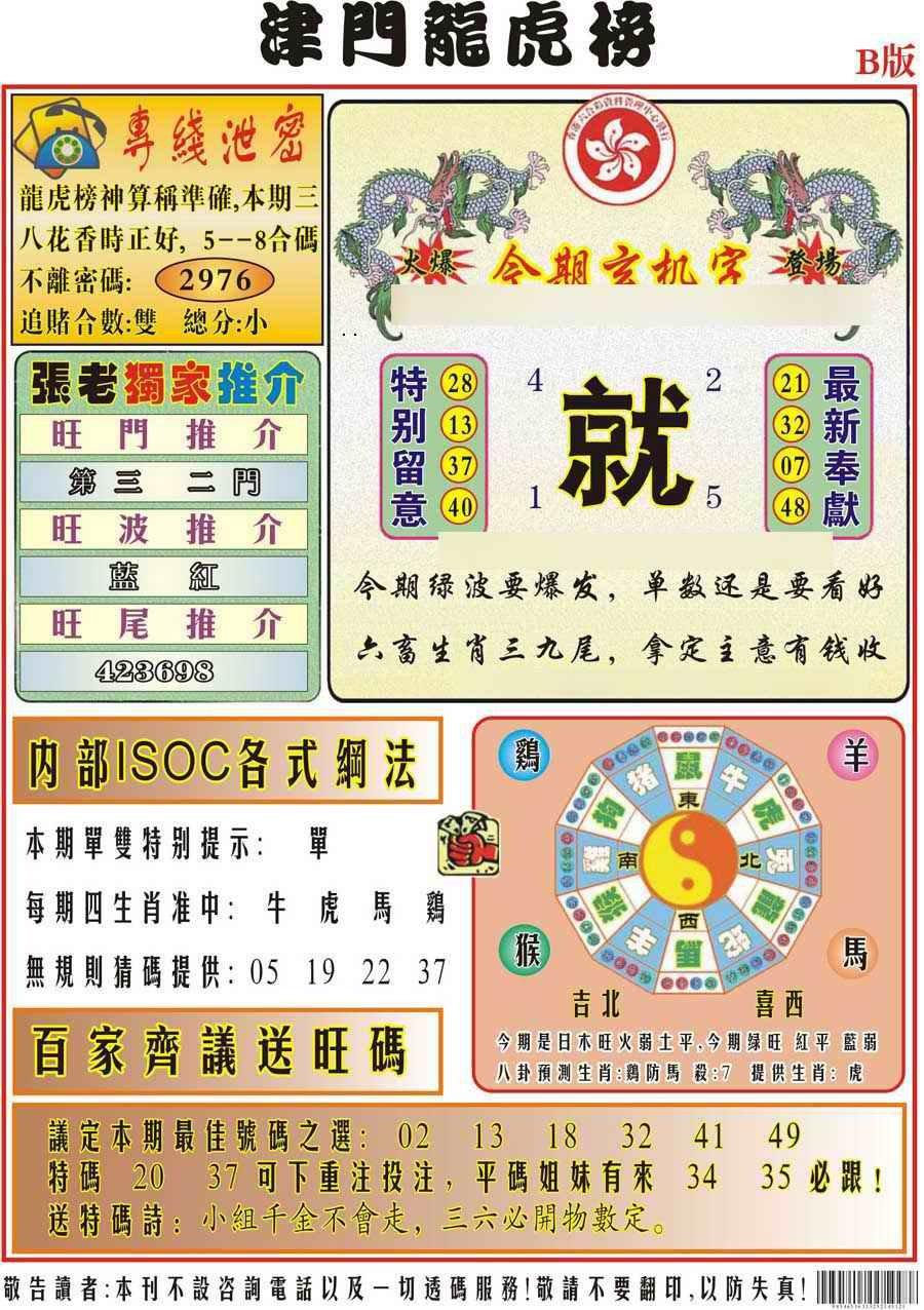 050期津门龙虎榜B