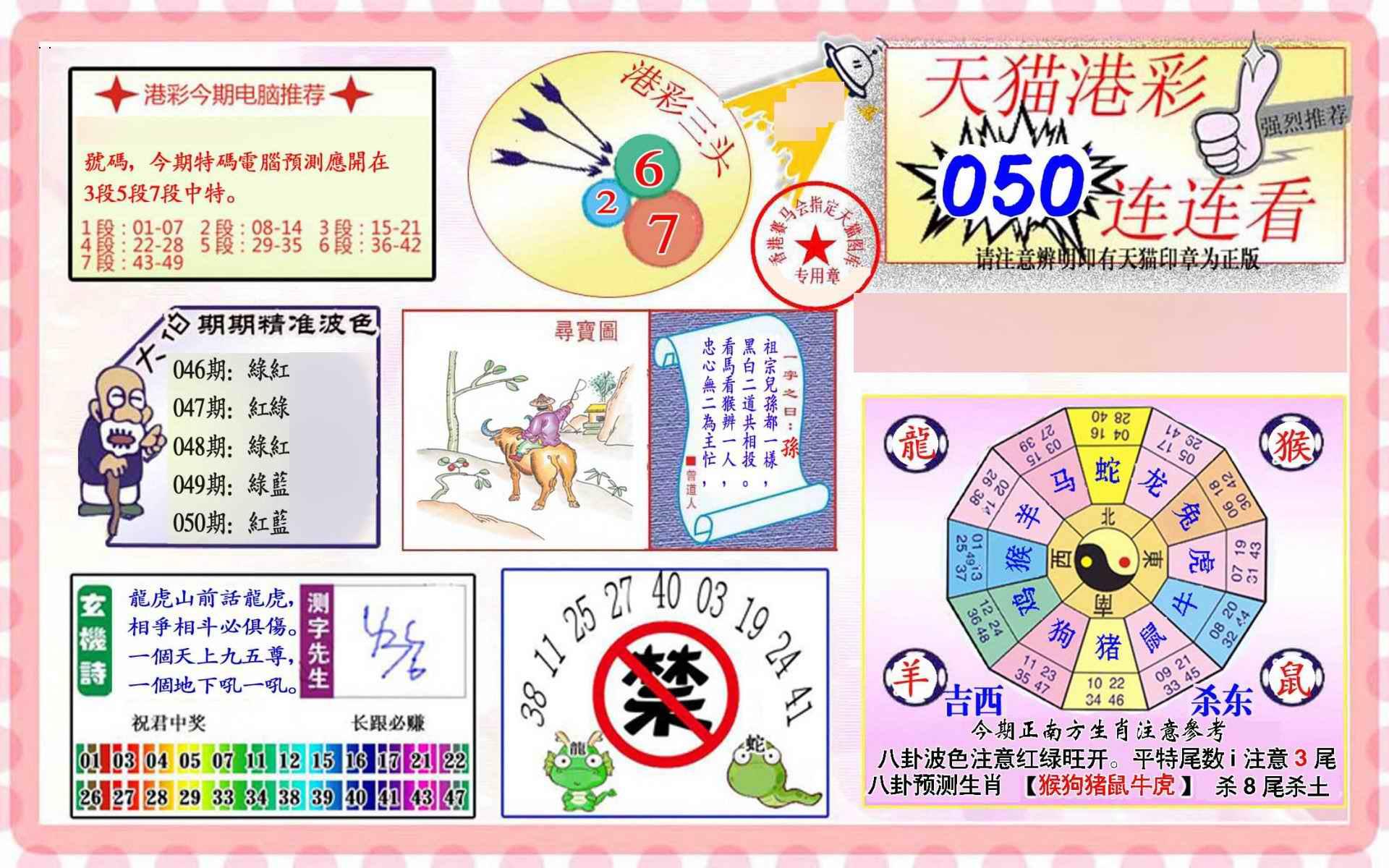 050期港彩连连中
