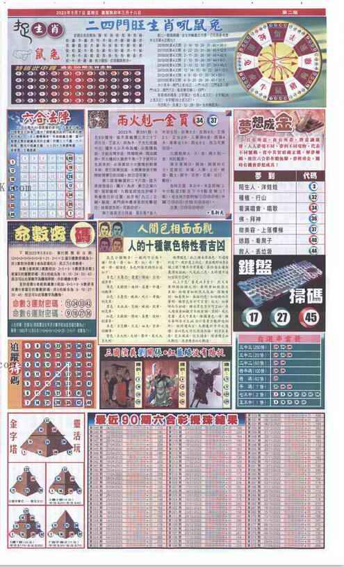 051期新报跑狗-2(背面)