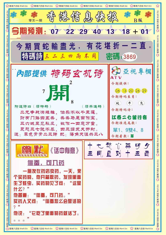 051期香港信息快报B(新)