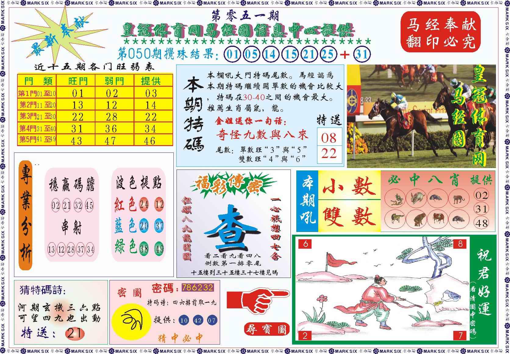 051期皇冠体育网马经图记录
