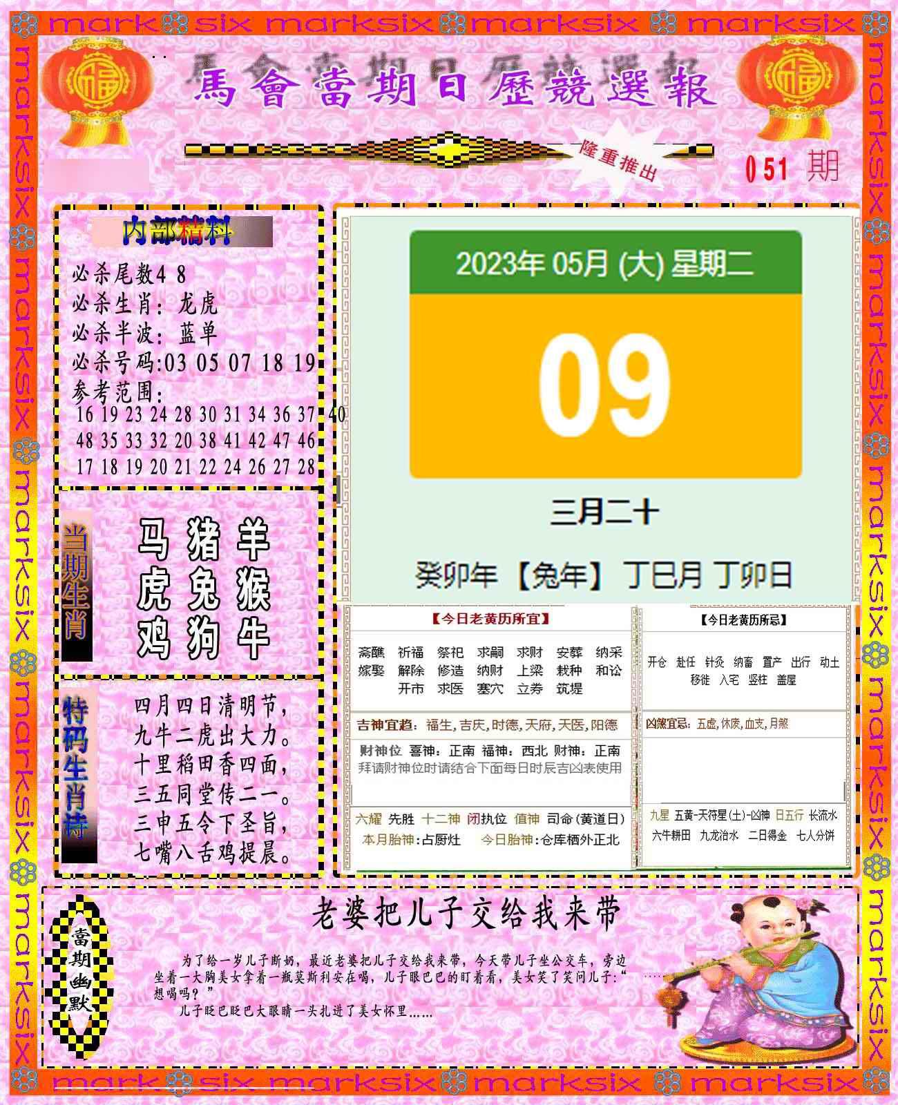 051期日历精选报(彩)