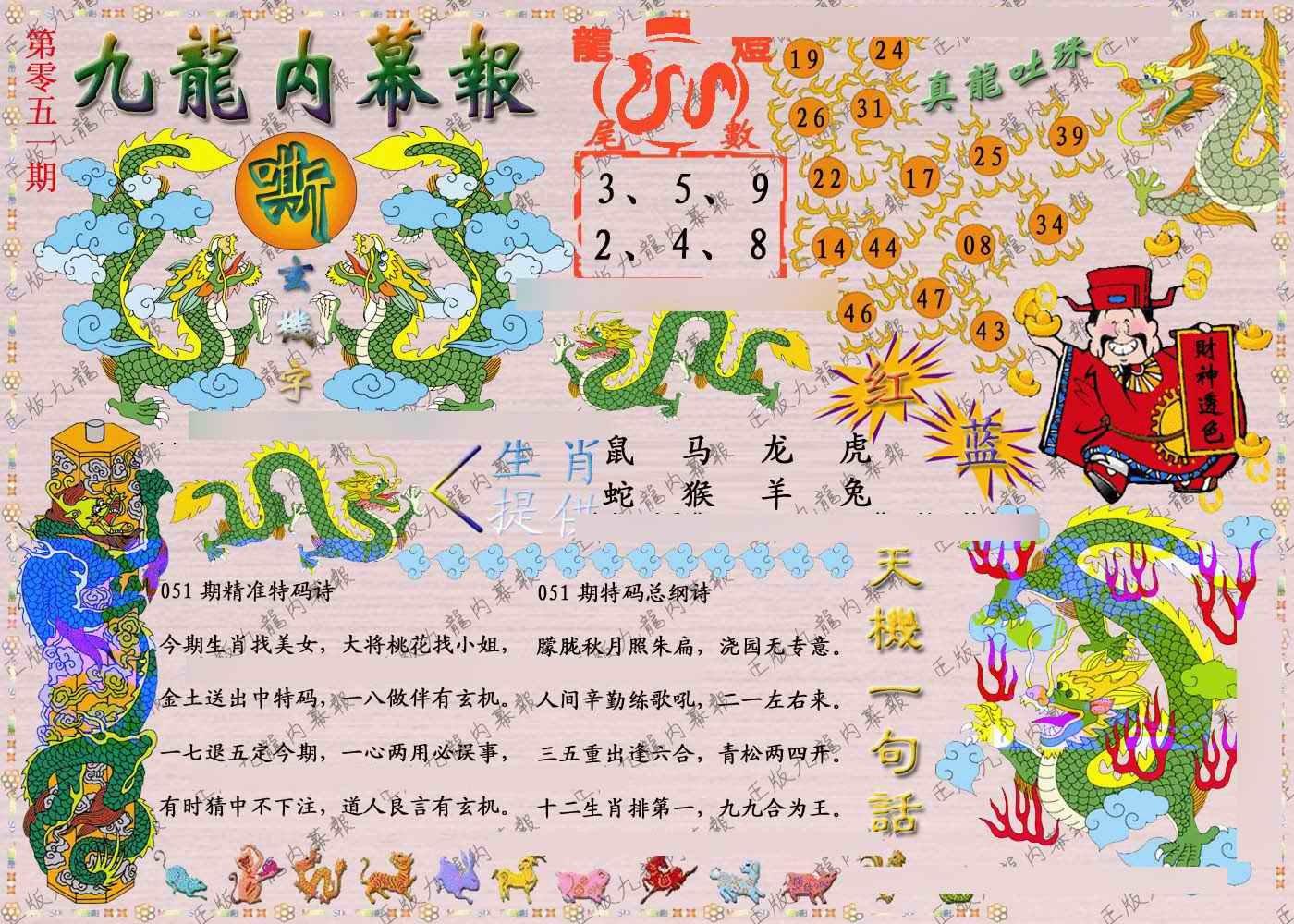 051期正版九龙内幕报