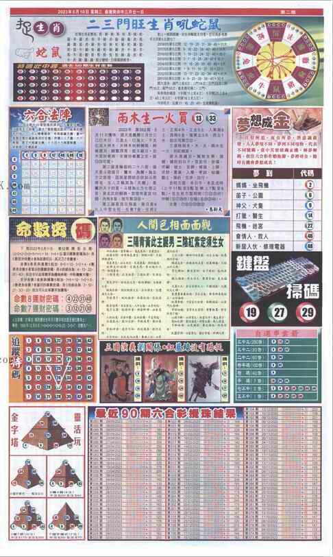 052期新报跑狗-2(背面)