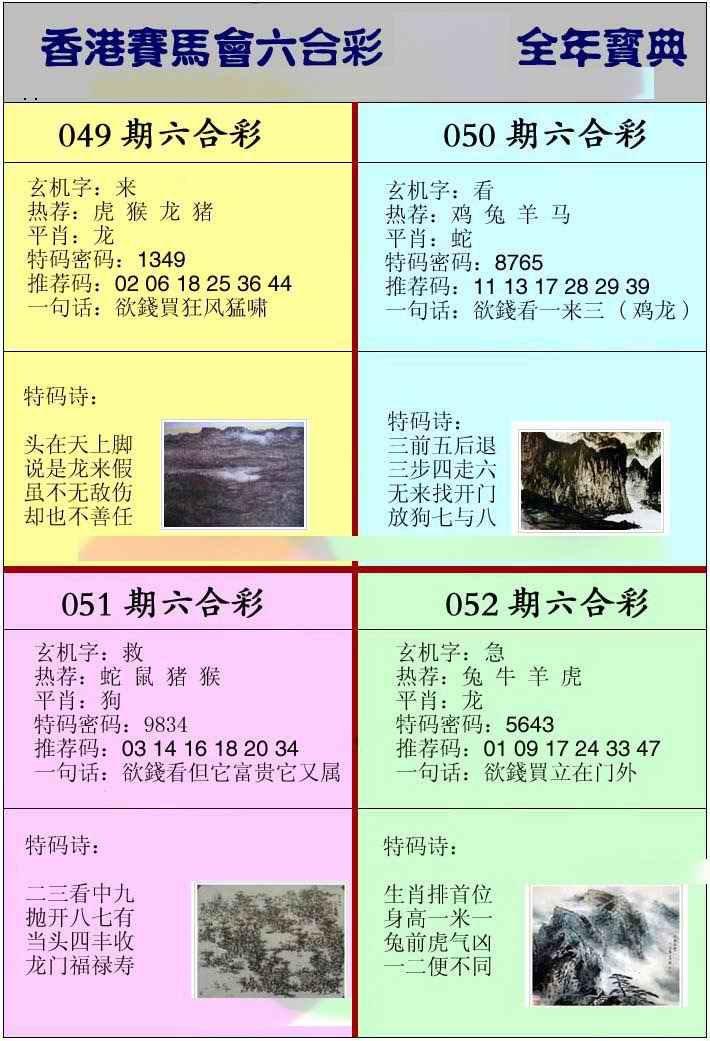 052期香港挂牌宝典
