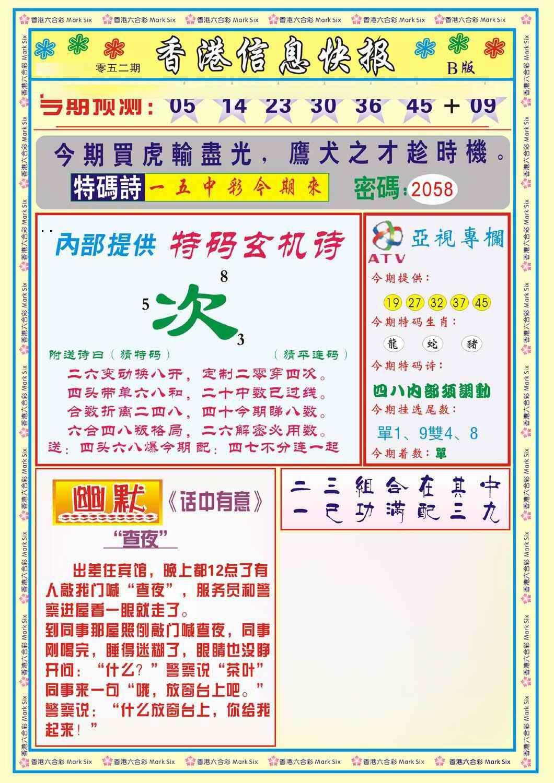 052期香港信息快报B(新)