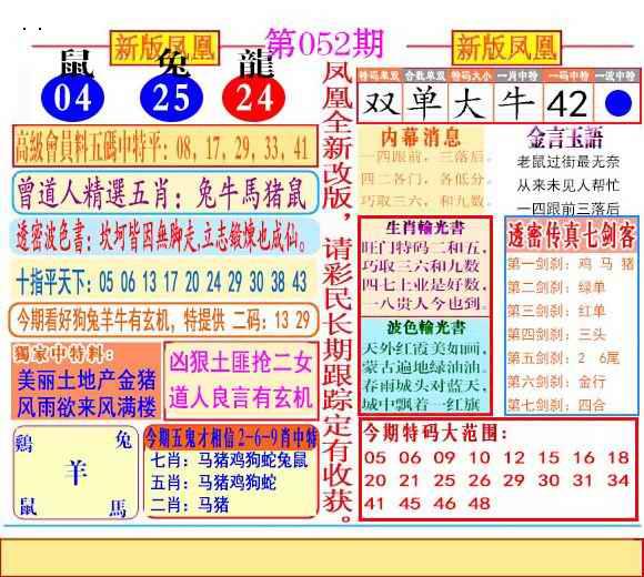 052期二代凤凰报