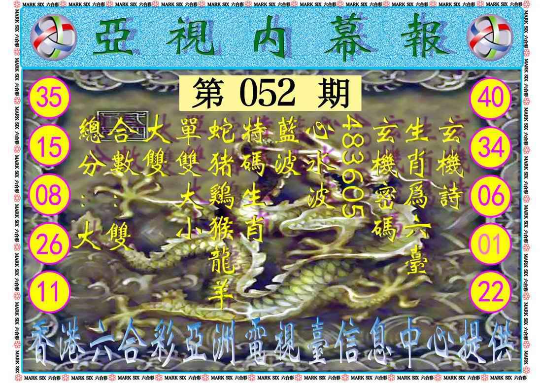 052期亚视内幕报