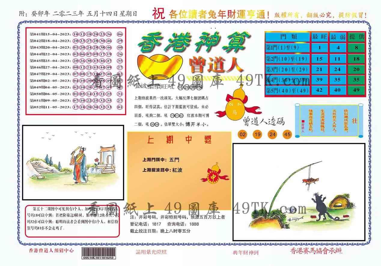 053期香港神算