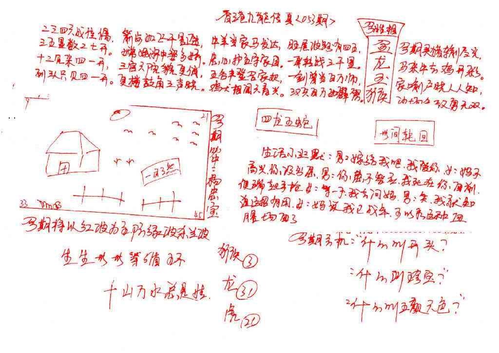 053期九龙传真(手写)
