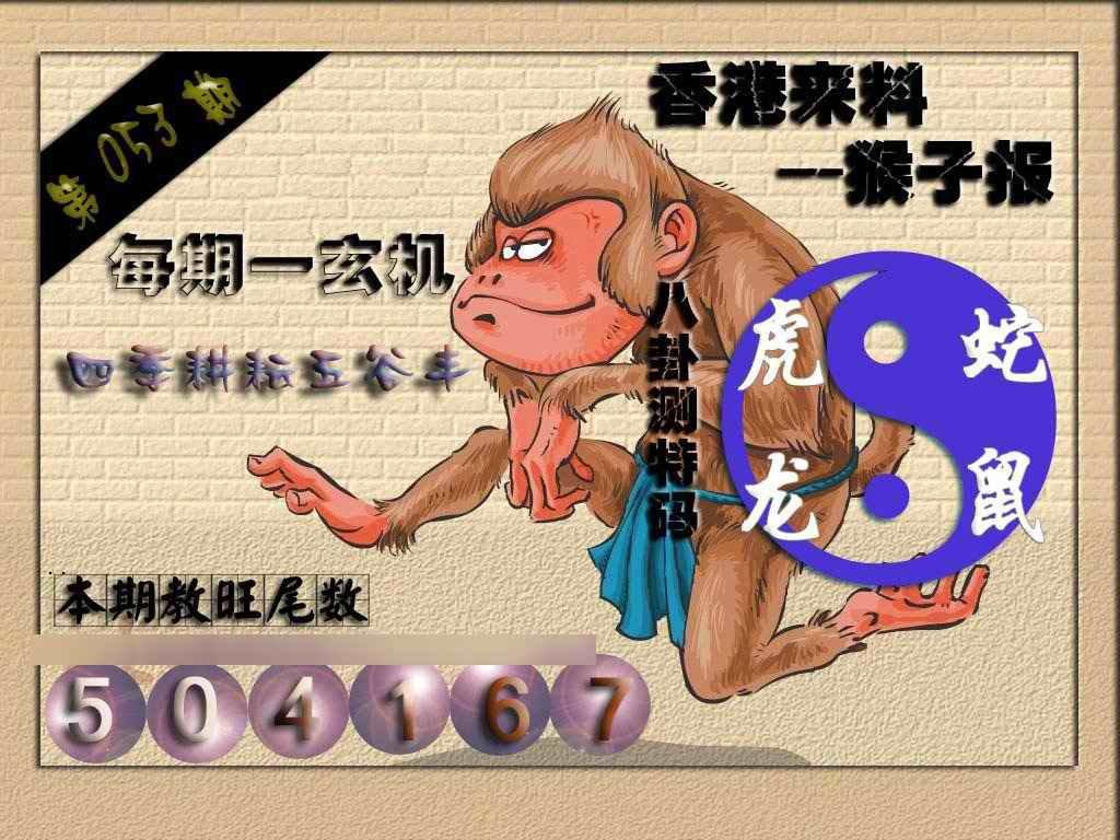 053期(香港来料)猴报