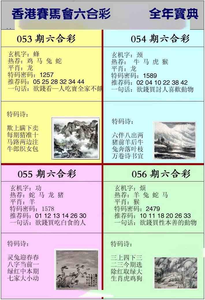 054期香港挂牌宝典