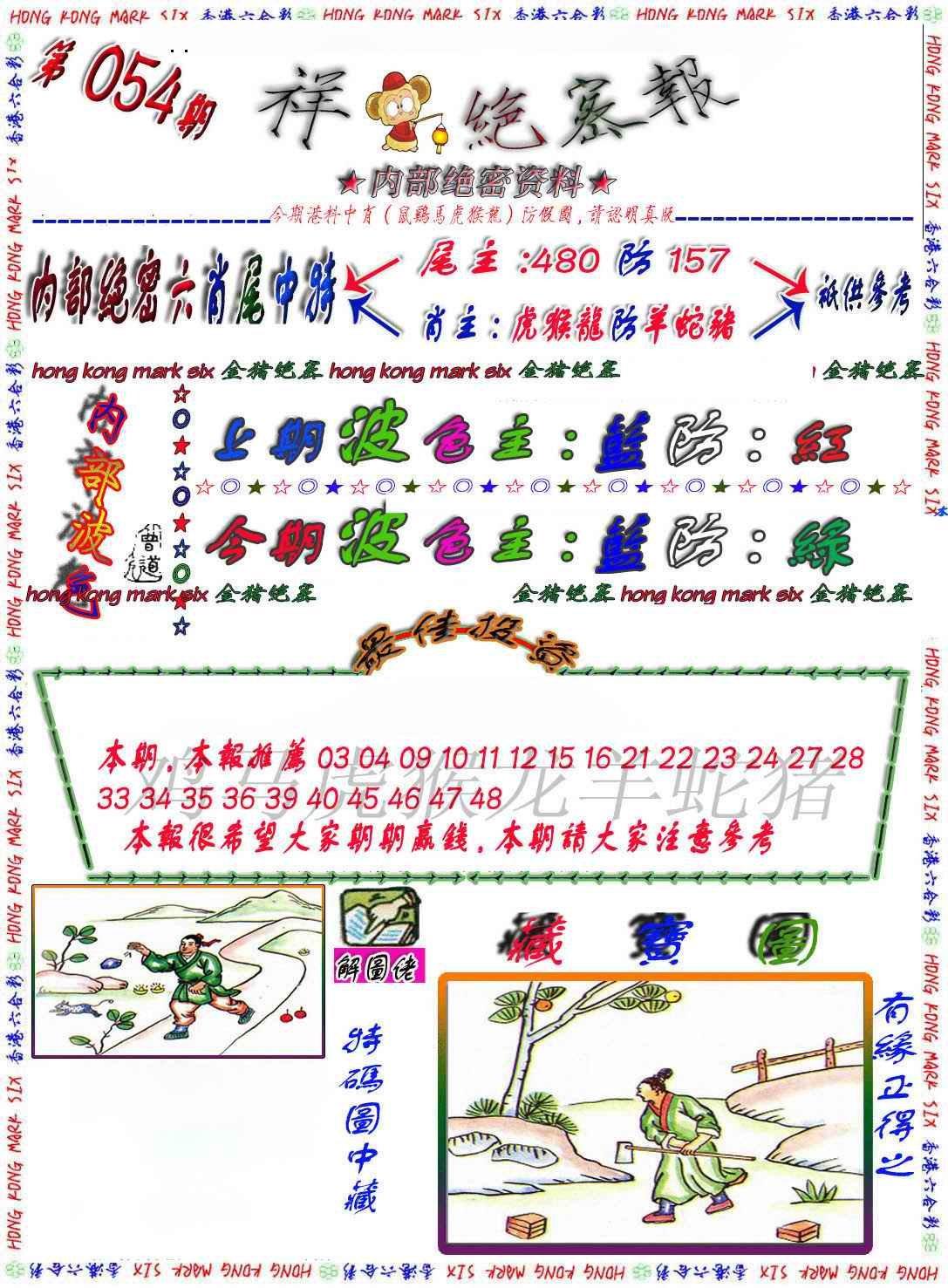 054期金鼠绝密图