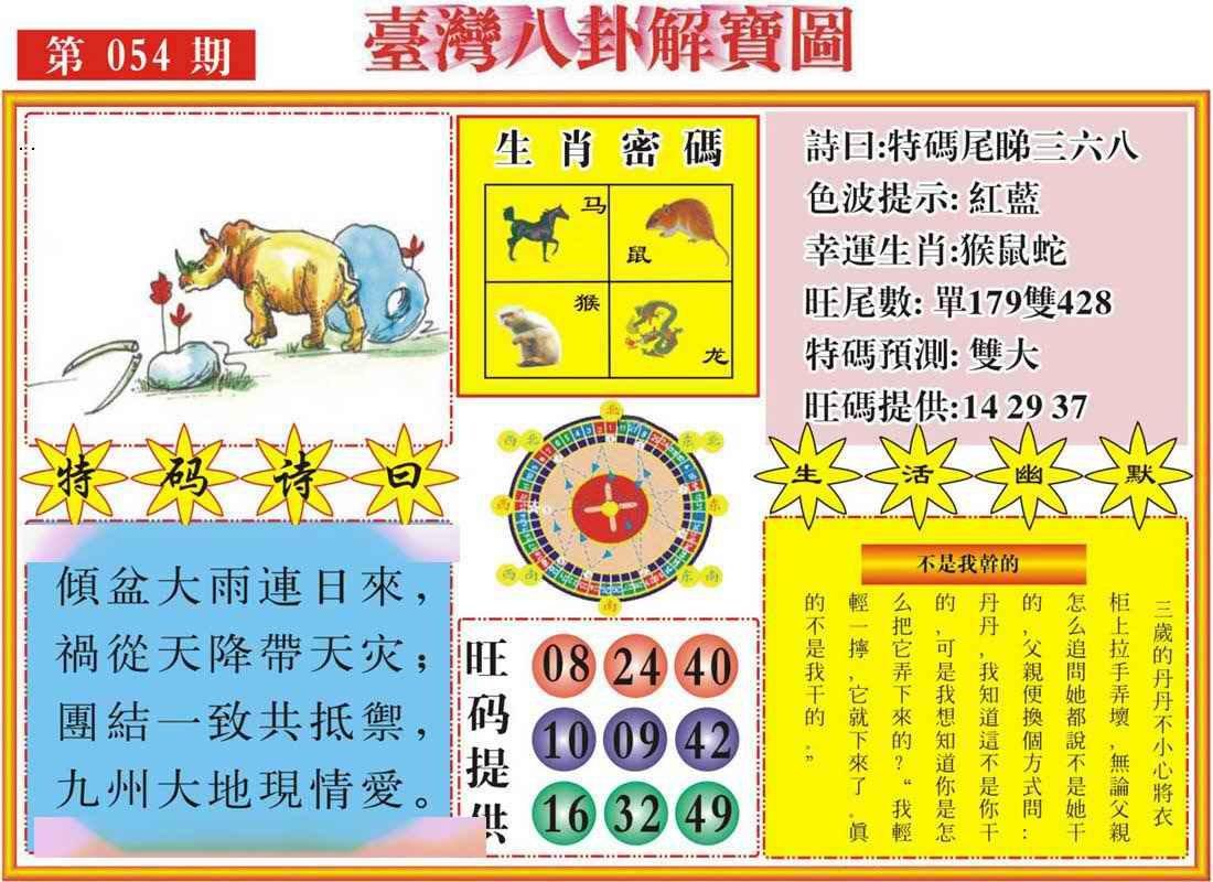 054期台湾八卦解宝图