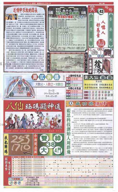 055期新报跑狗-2(背面)