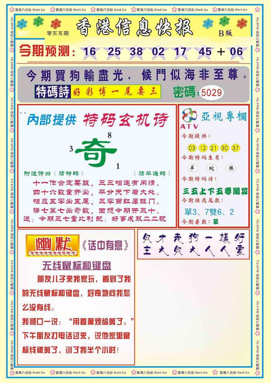 055期香港信息快报B(新)