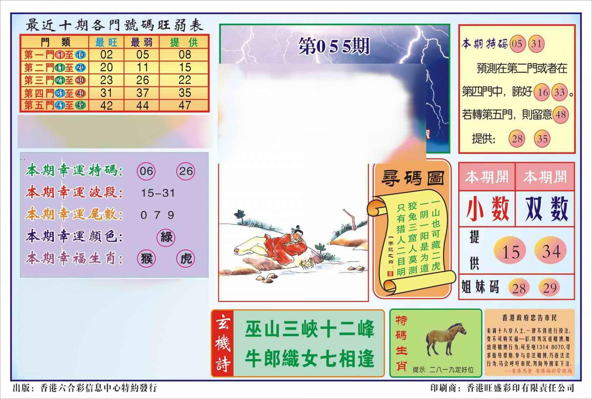 055期香港逢赌必羸(新图)