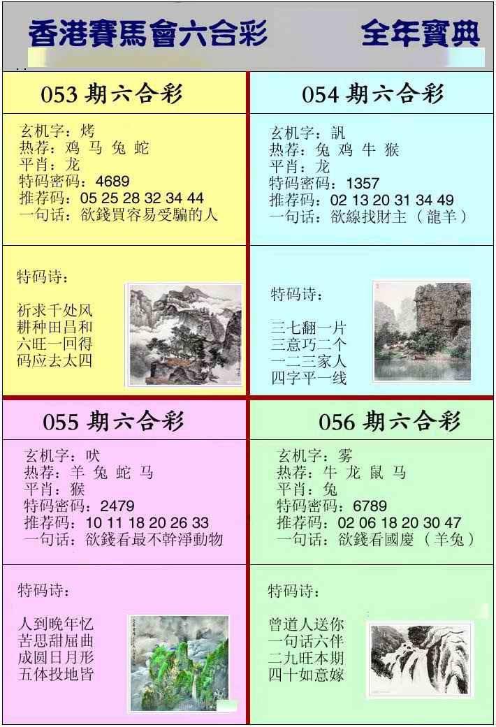 056期香港挂牌宝典