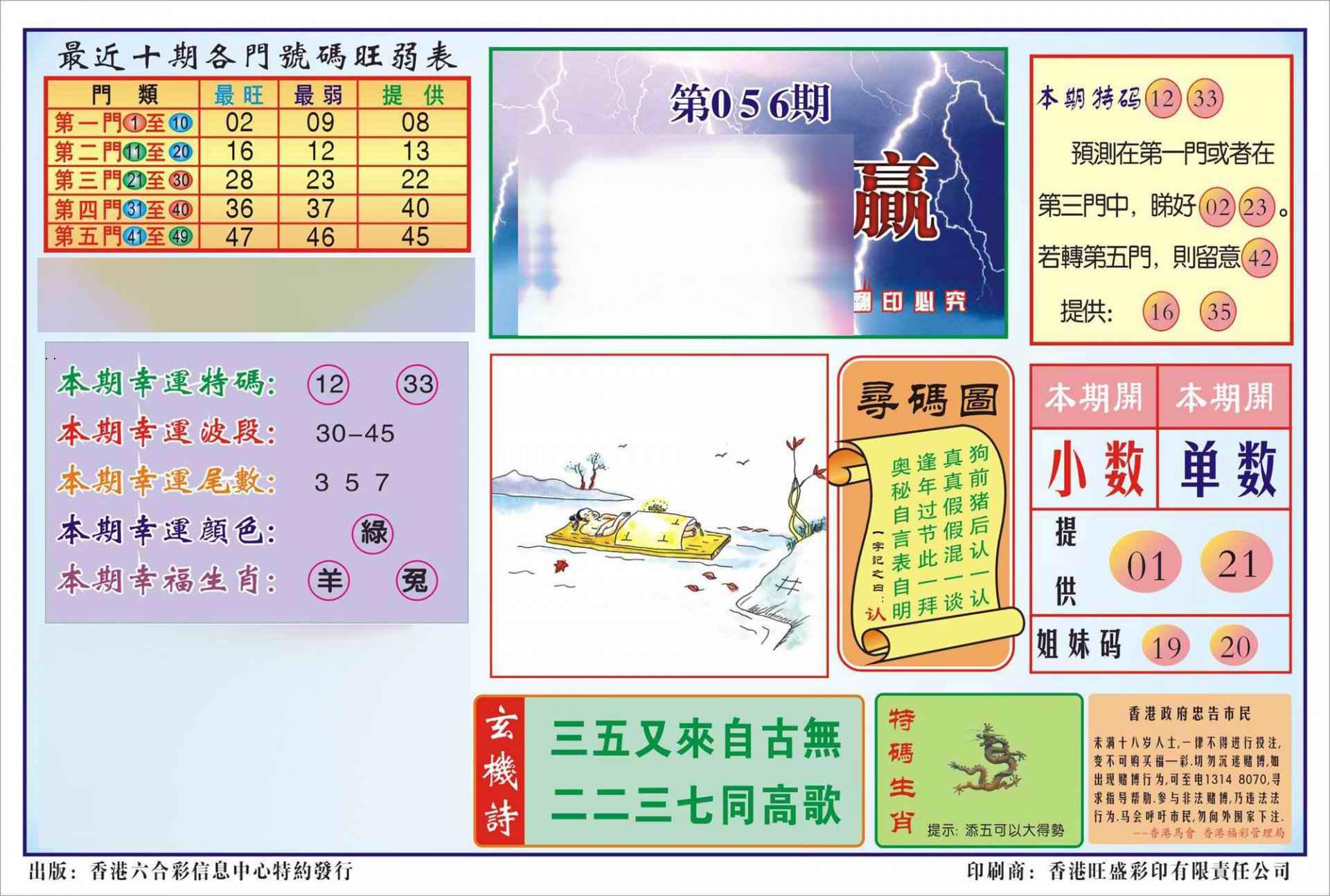 056期香港逢赌必羸(新图)