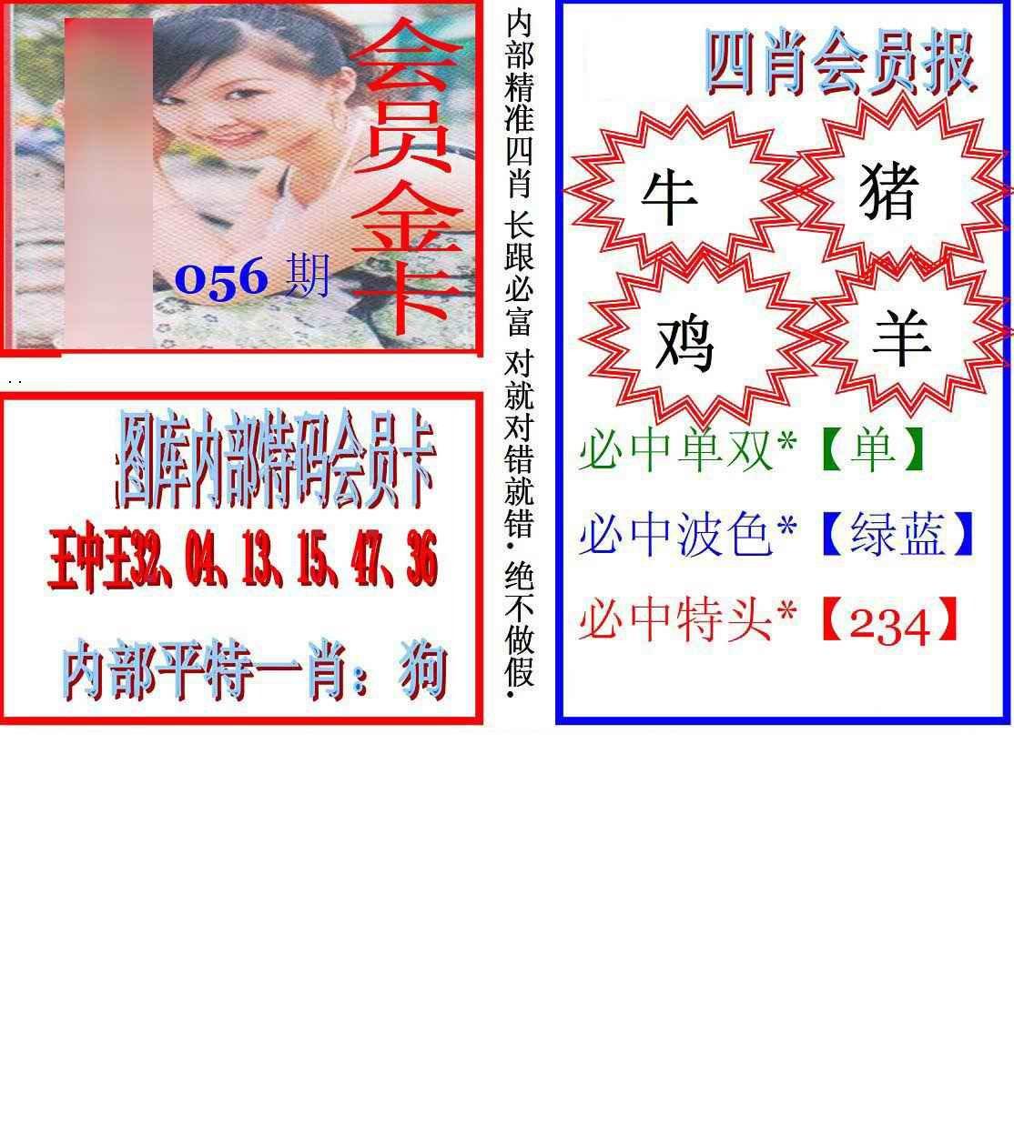 056期马经四肖会员报(新图)