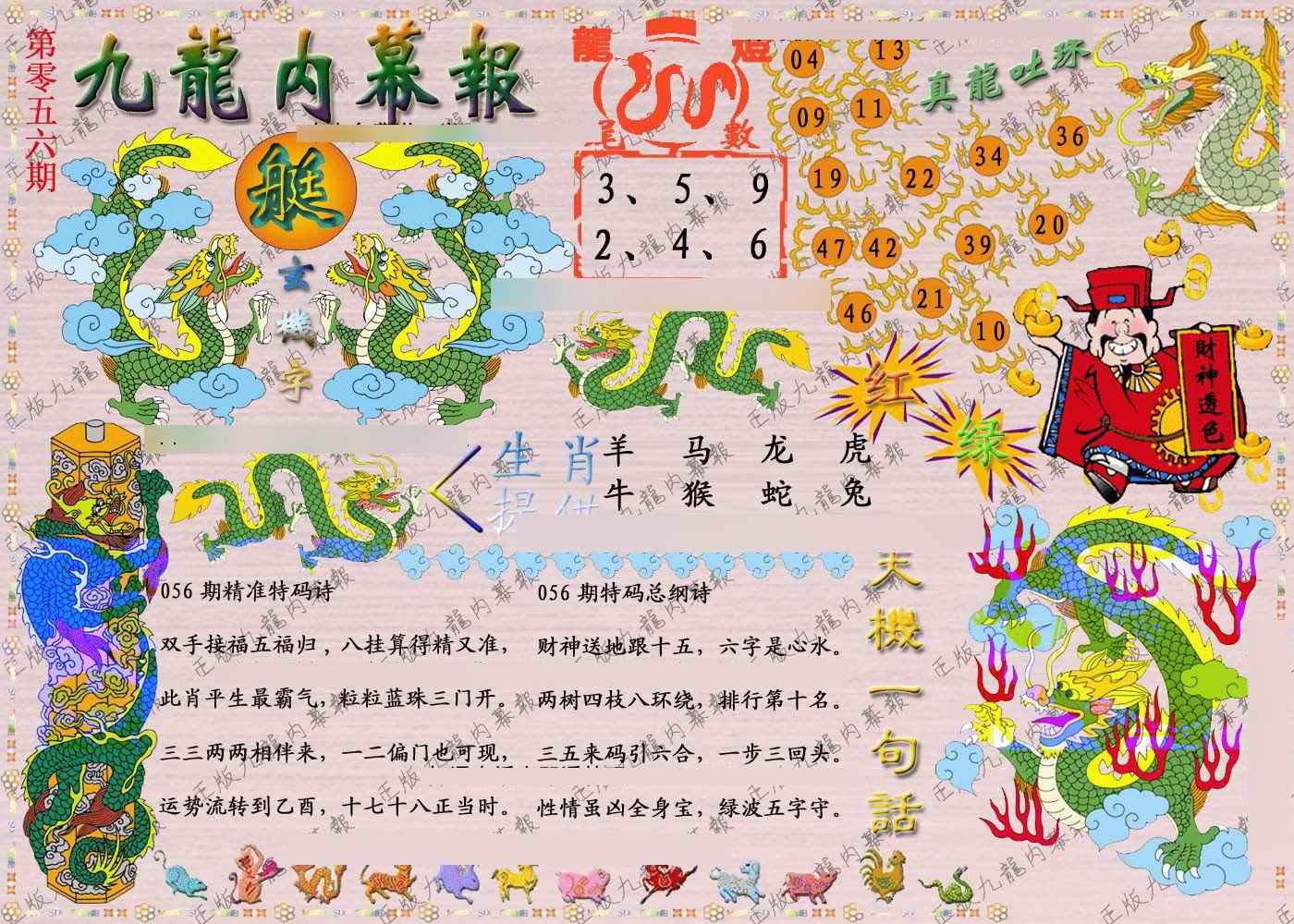 056期正版九龙内幕报