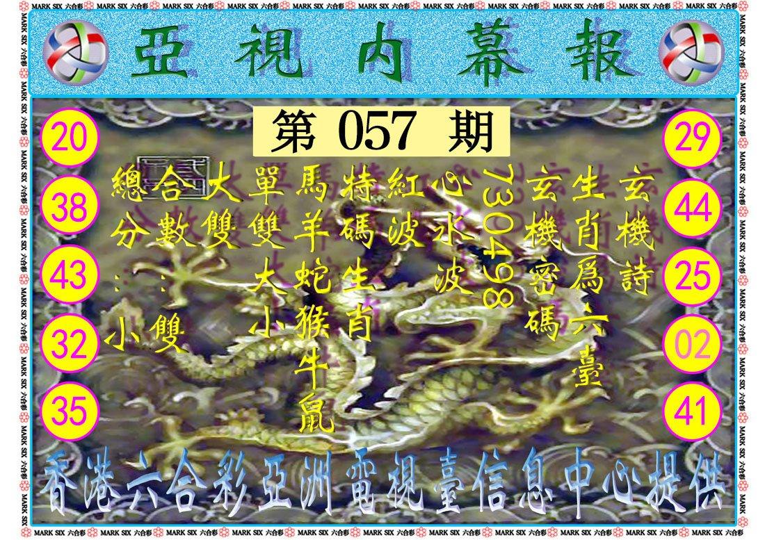 057期亚视内幕报