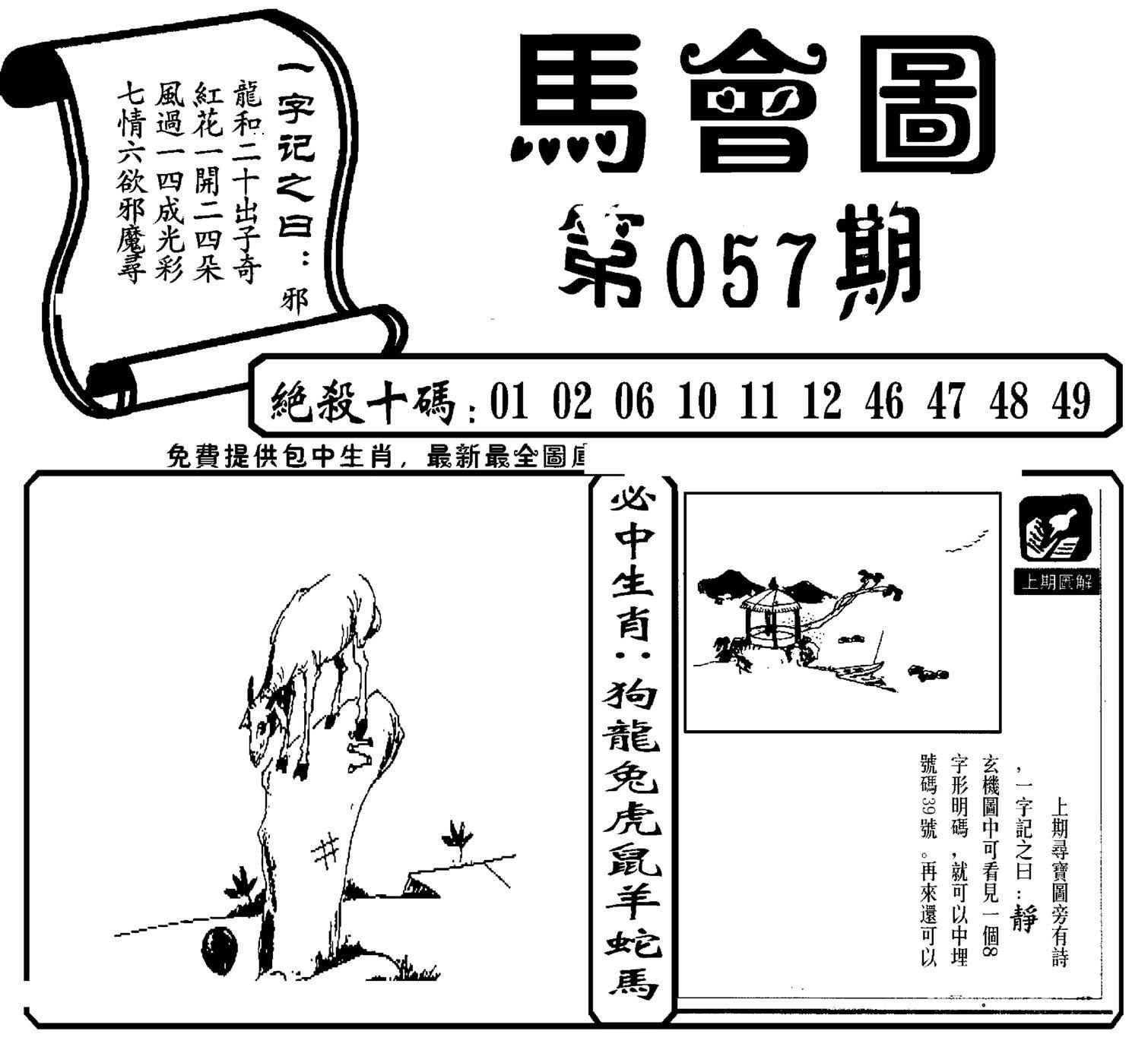 057期马会图
