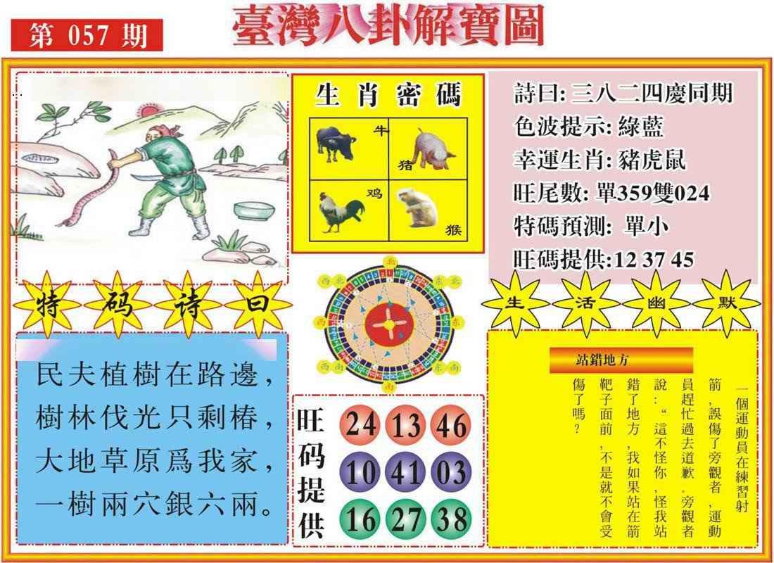 057期台湾八卦解宝图