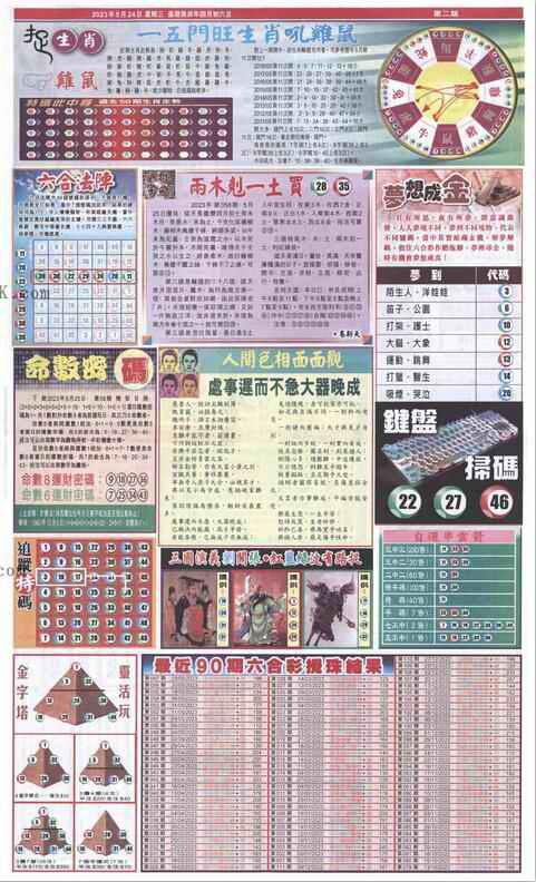 058期新报跑狗-2(背面)
