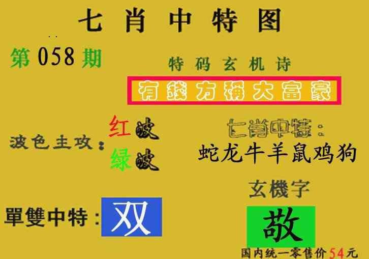 058期七肖中特(新图)