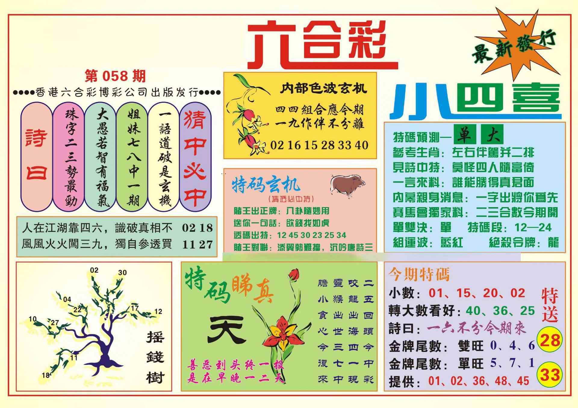 058期香港小四喜(新图)