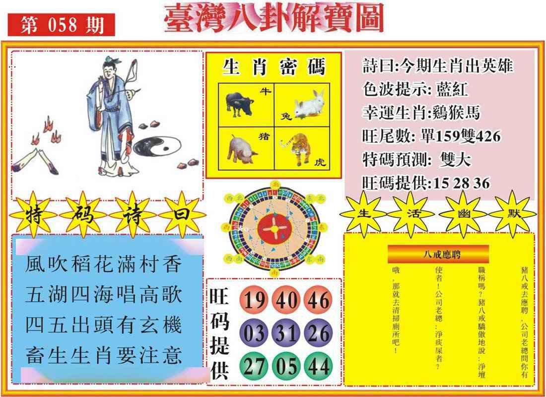 058期台湾八卦解宝图