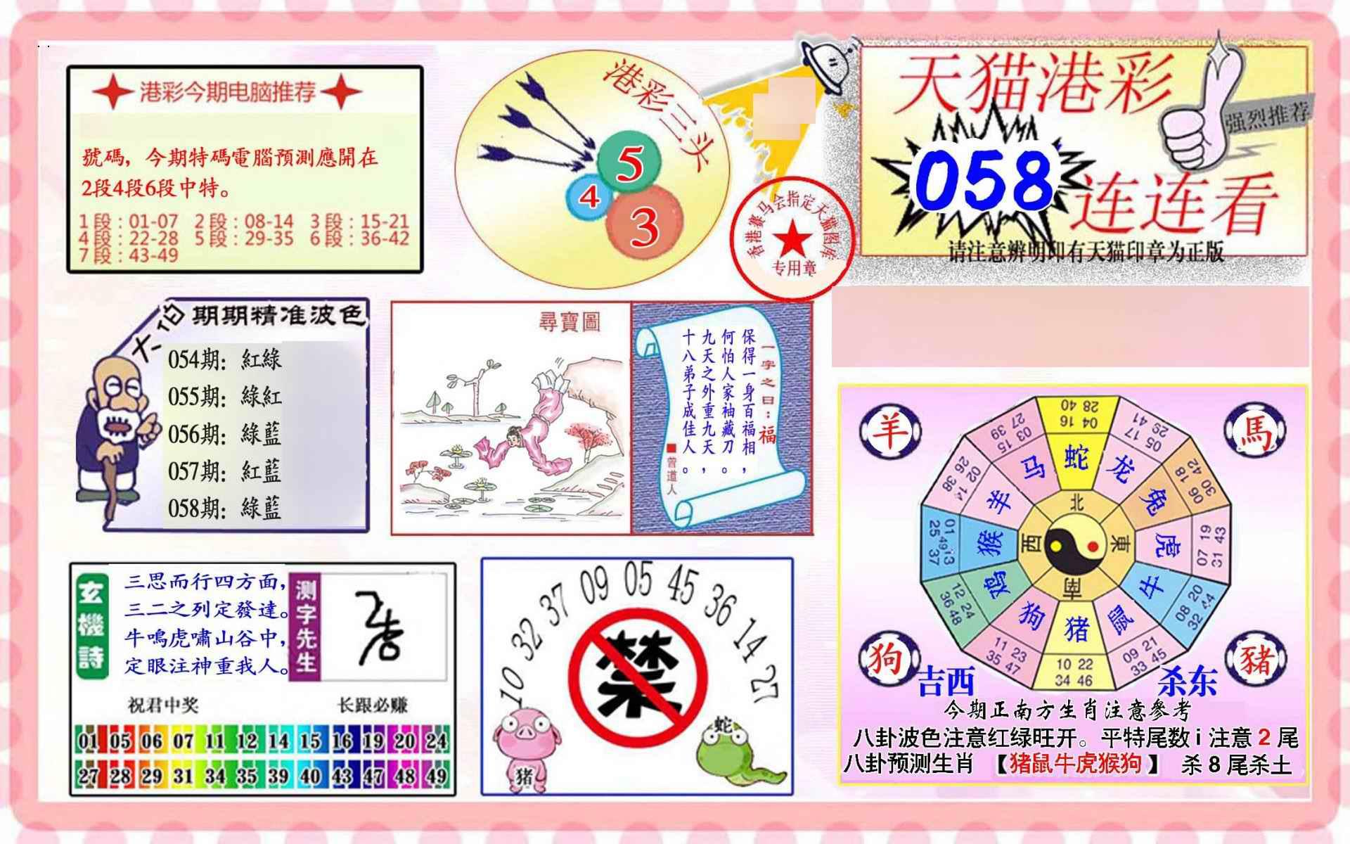 058期港彩连连中