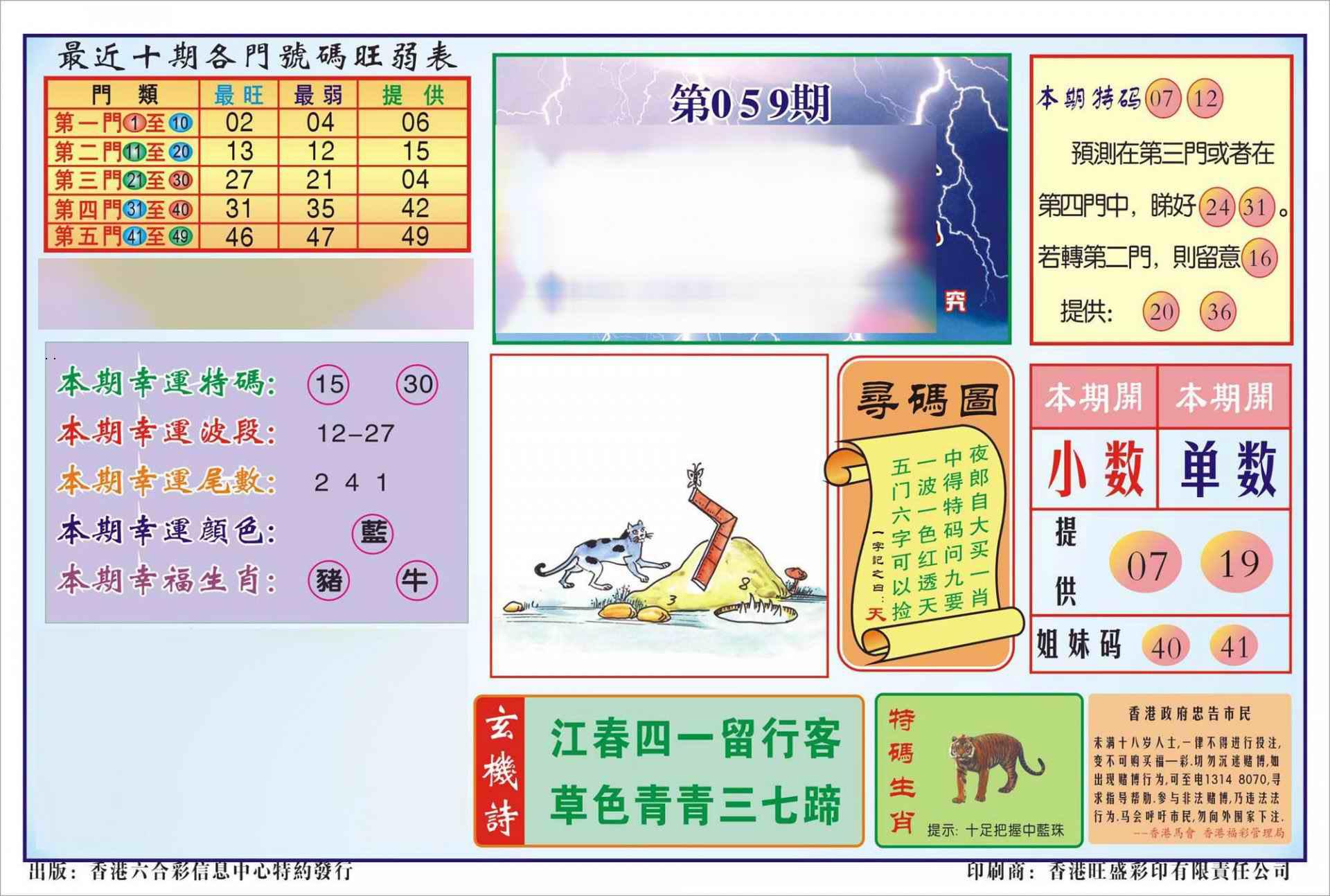 059期香港逢赌必羸(新图)