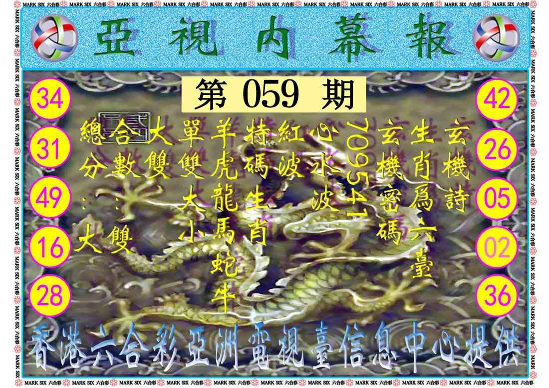 059期亚视内幕报