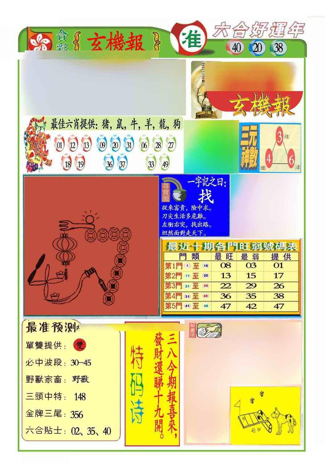 059期马经玄机报(新图推荐)