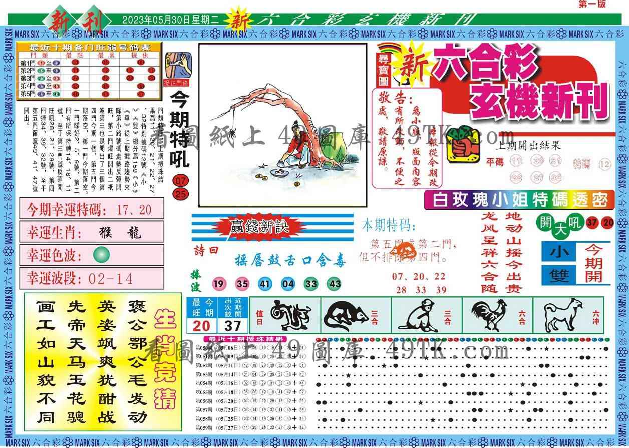 060期新六合彩特码新刊A
