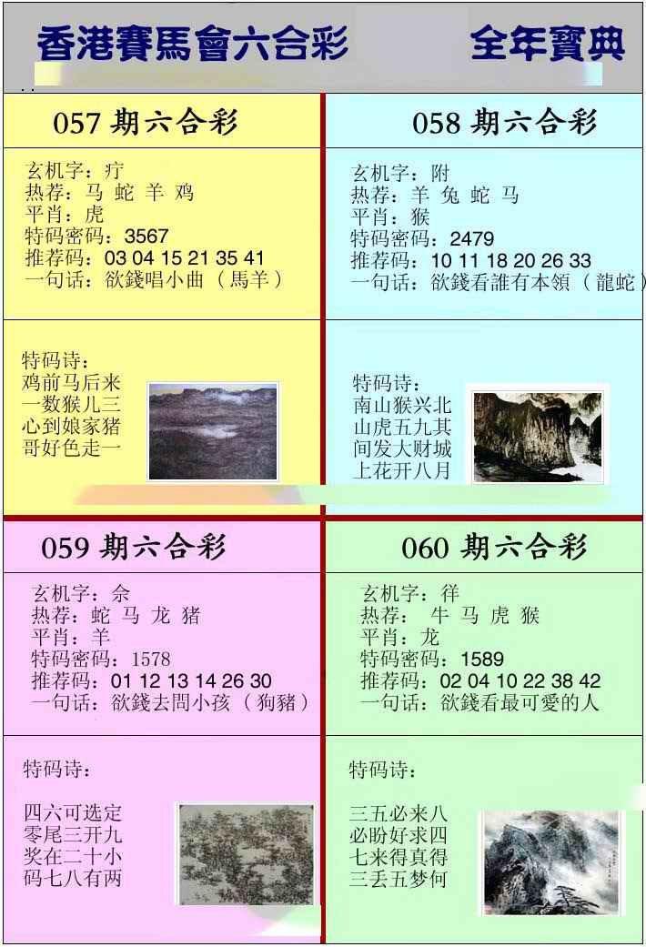 060期香港挂牌宝典