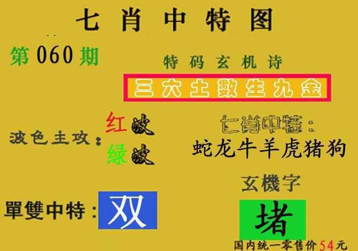 060期七肖中特(新图)