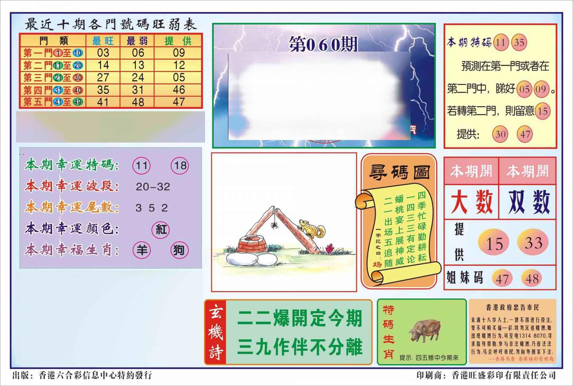 060期香港逢赌必羸(新图)