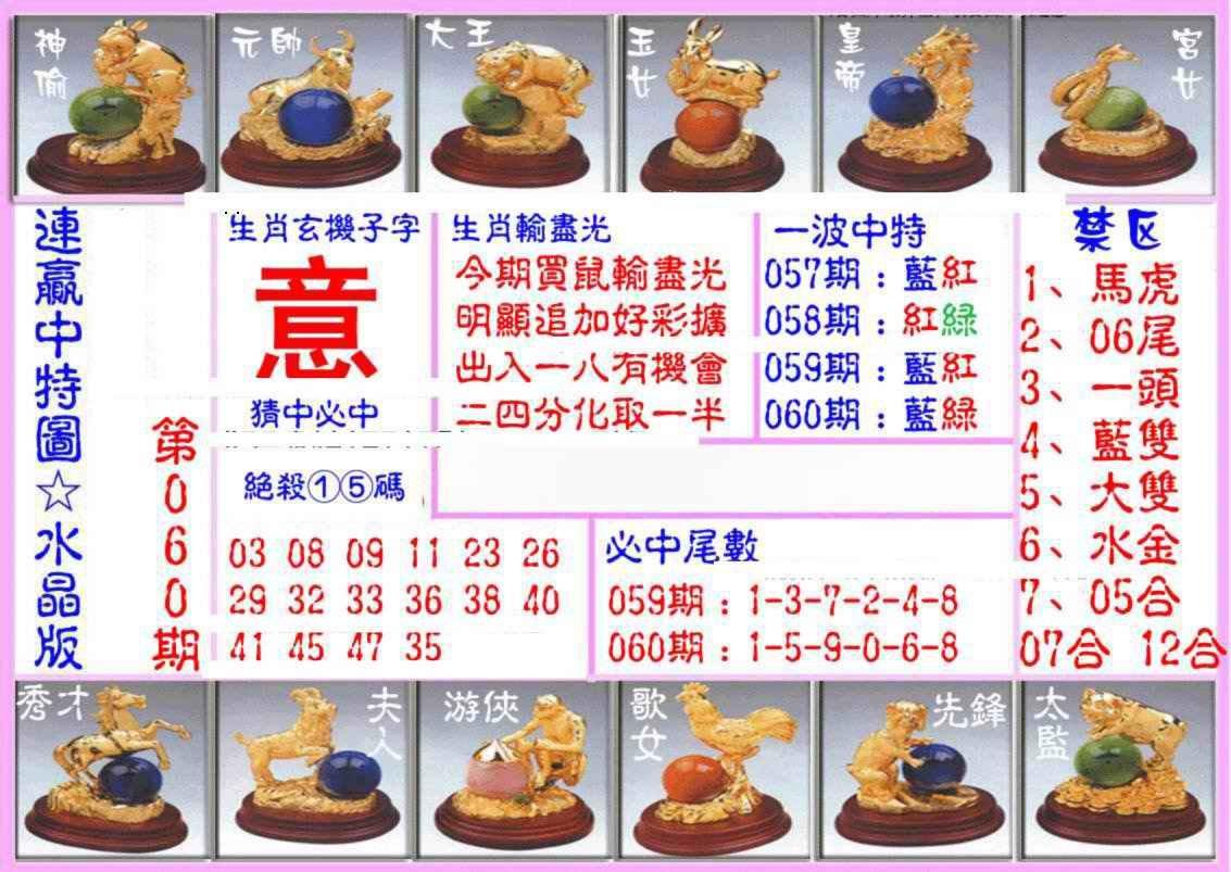 060期连赢中特图(水晶版)