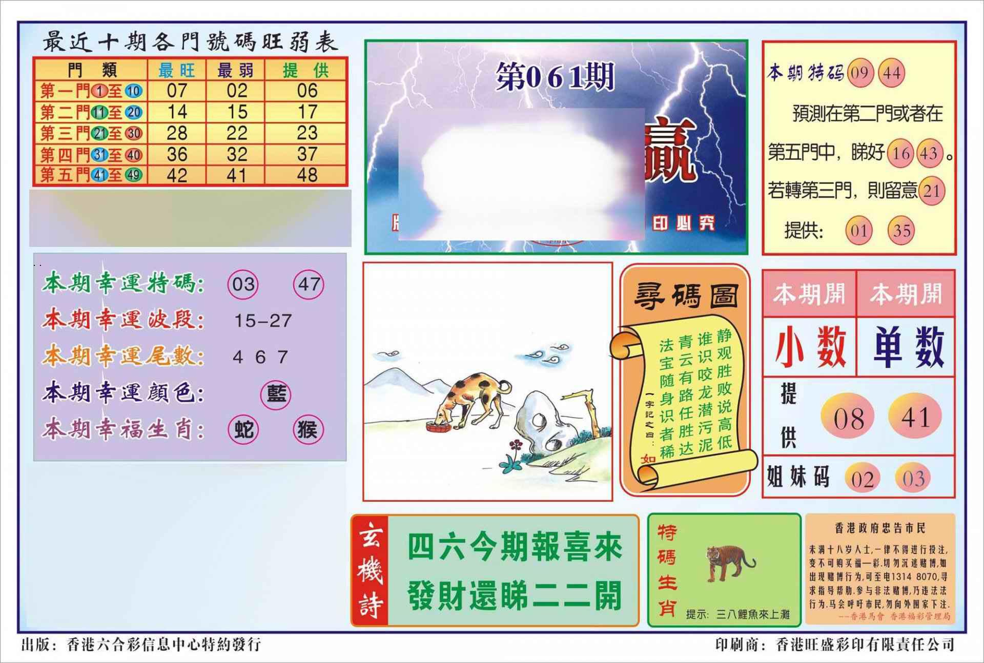 061期香港逢赌必羸(新图)