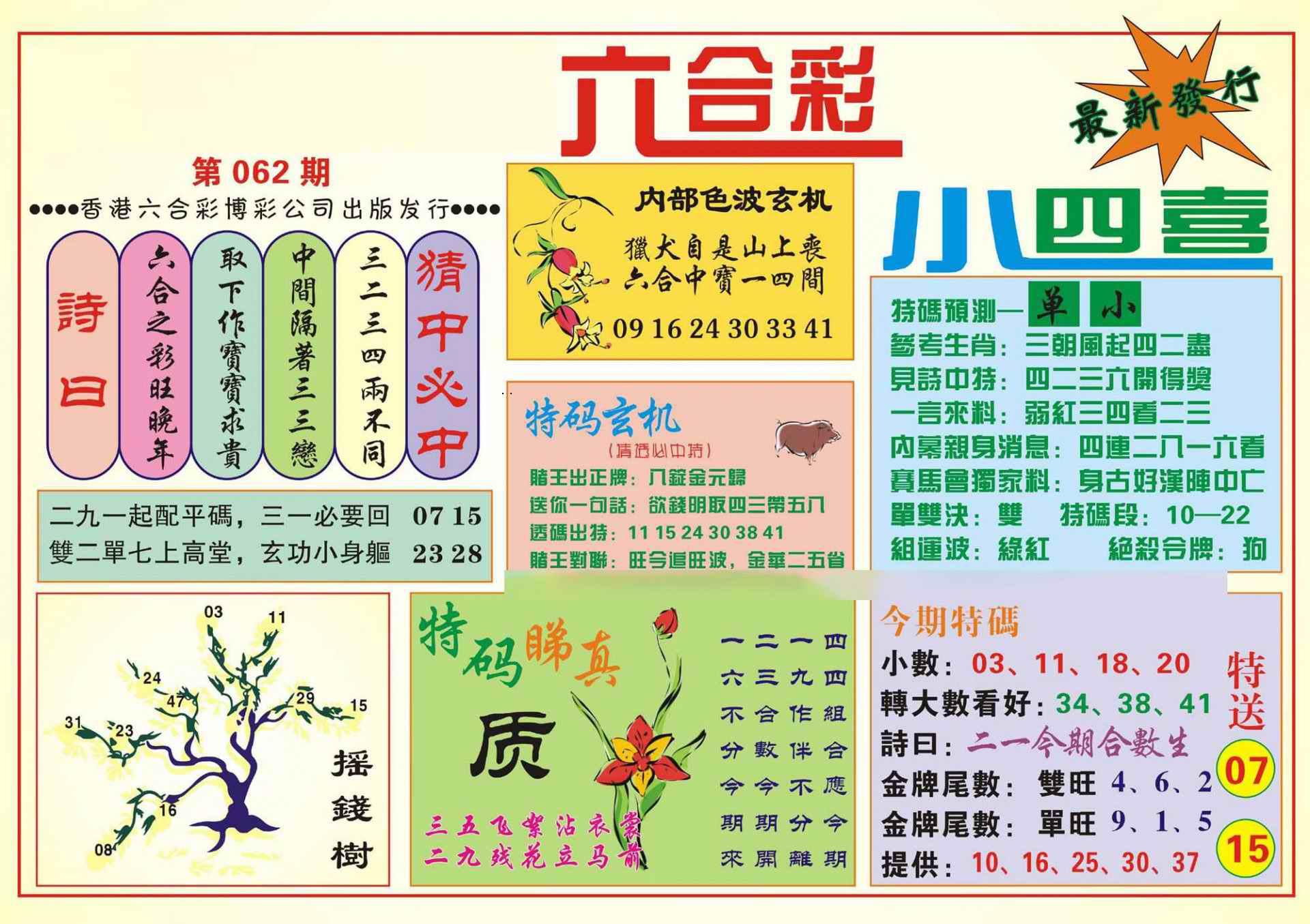062期香港小四喜(新图)
