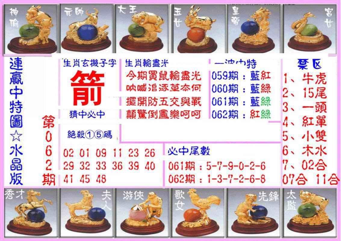 062期连赢中特图(水晶版)