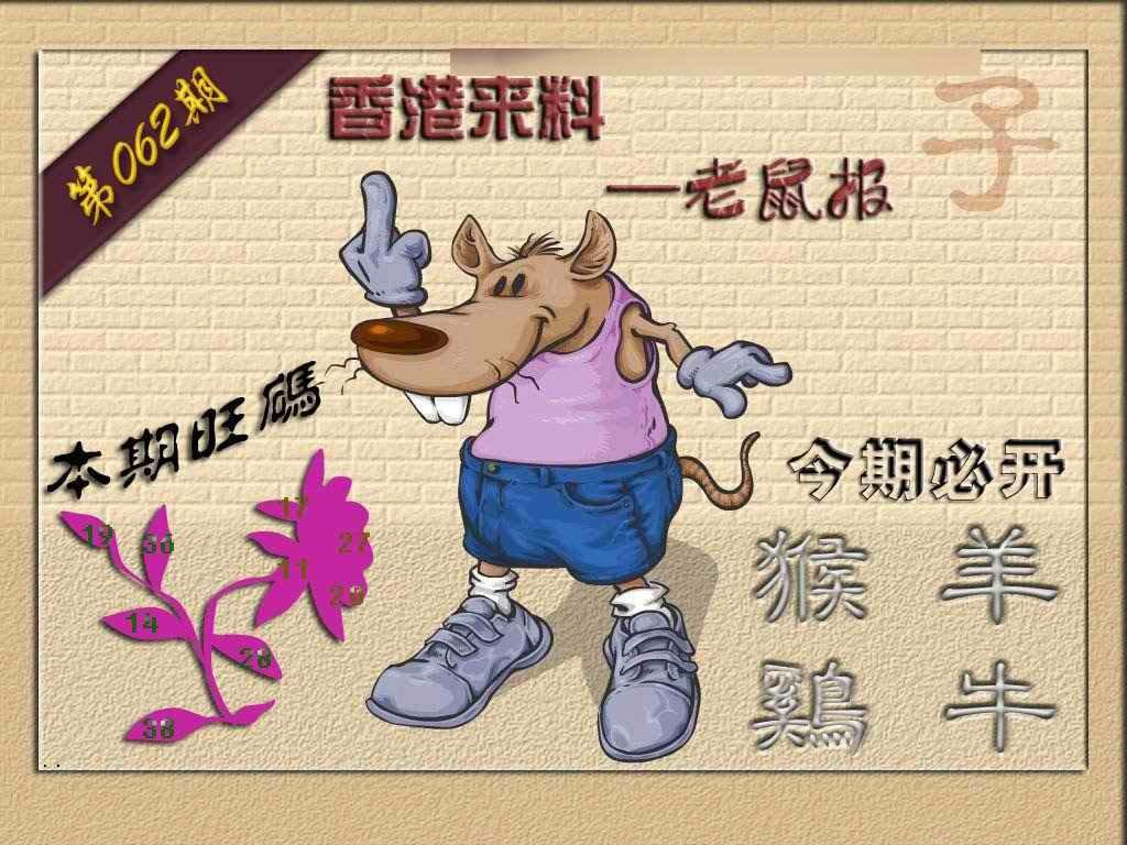 062期(香港来料)鼠报