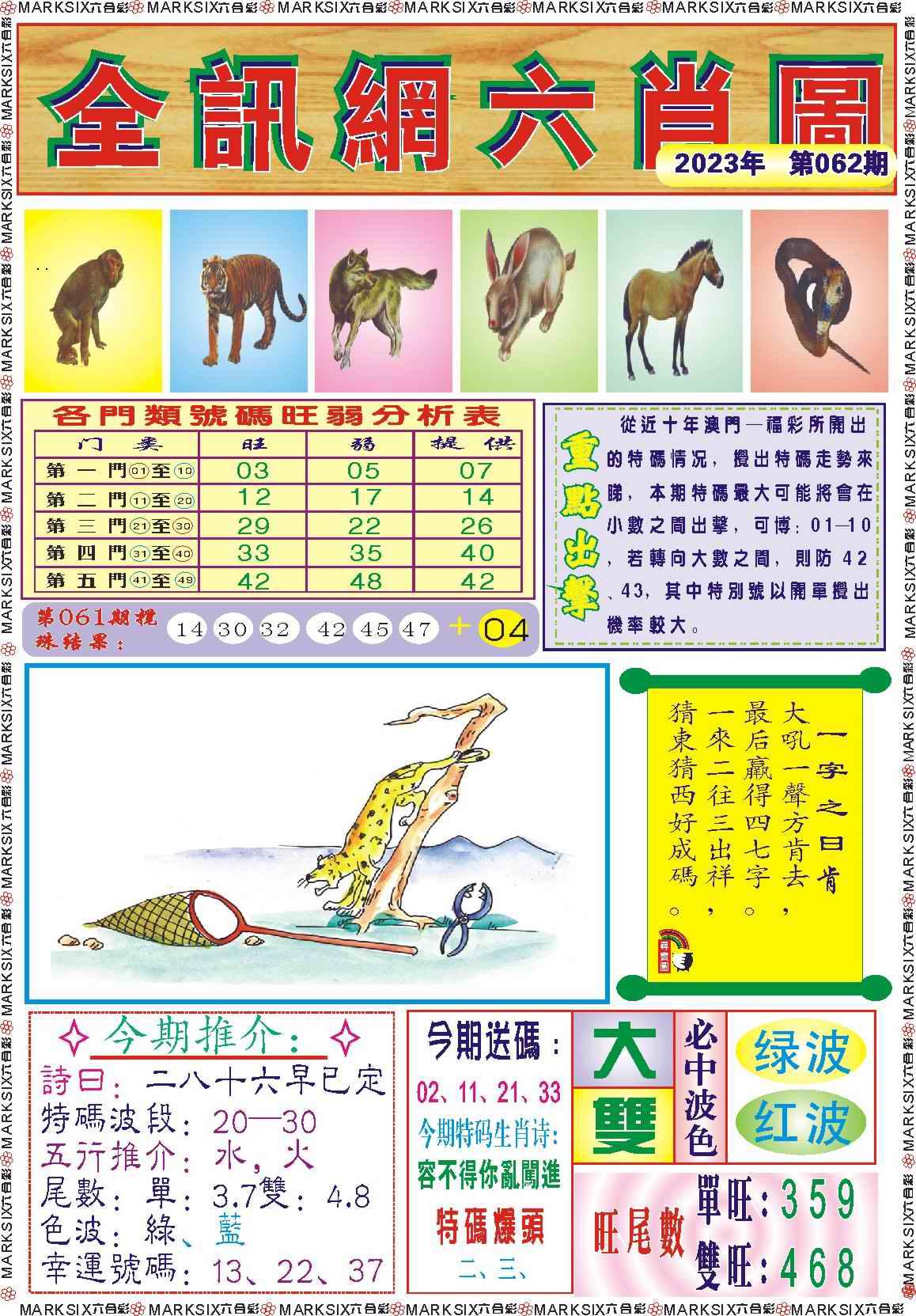 062期全讯网六肖图记录